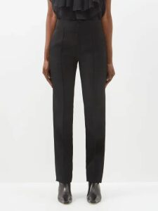 Emilia Wickstead - Evelyn Floral Print Cotton Blend Wrap Skirt - Womens - Ivory Multi