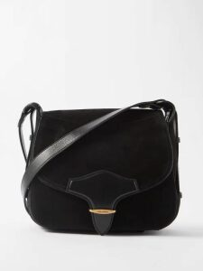 Marine Serre - Patchwork Floral Lace And Cotton Jersey Midi Dress - Womens - Black Multi