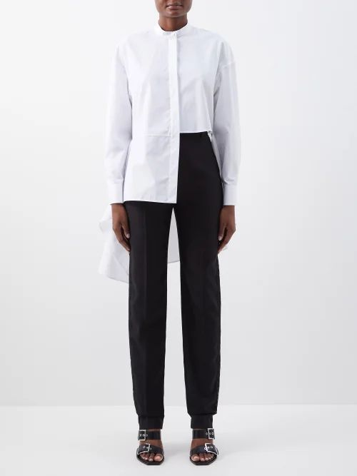 Paco Rabanne - Flocked Chainmail And Lace Skirt - Womens - Black Red