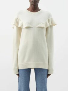 Dodo Bar Or - Bernadette Floral Print Silk Jacquard Midi Dress - Womens - Orange Multi