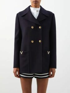 Blazé Milano - Funky Fred Zigzag Silk Blend Blazer Mini Dress - Womens - Silver Multi
