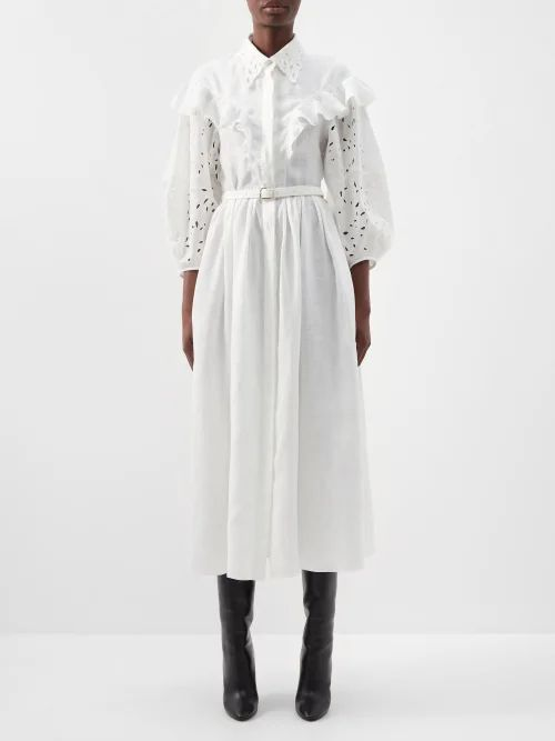 Barrie - Lace Stitched Cashmere Hooded Sweatshirt - Womens - Grey