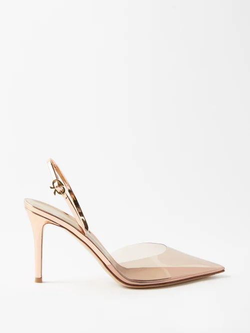 Proenza Schouler - Hex Small Metallic Leather Tote Bag - Womens - Silver