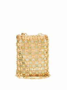 Paco Rabanne - Flash 1969 Mini Crystal Embellished Phone Bag - Womens - Green Gold