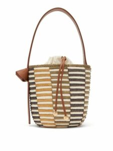 Cesta Collective - Lunchpail Woven Sisal Bucket Bag - Womens - Brown Multi