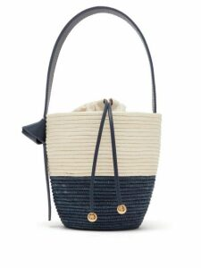 Cesta Collective - Lunchpail Woven Sisal Bucket Bag - Womens - Navy Multi