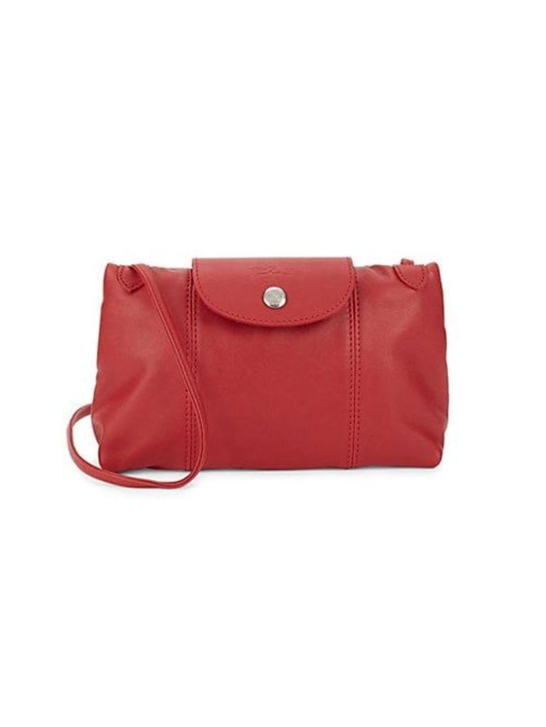 Logo Leather Crossbody Bag