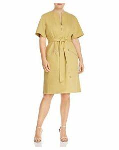 Lafayette 148 New York Plus Elizabella Zip-Front Dress