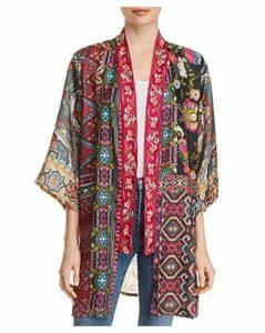 Johnny Was Emilia Mixed-Print Silk Kimono - 100% Exclusive