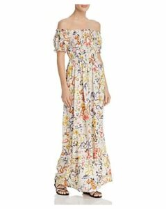 Aqua Smocked Floral Maxi Dress - 100% Exclusive