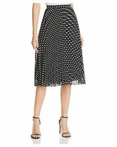 Calvin Klein Dot-Print Pleated Midi Skirt