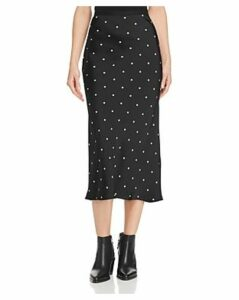 Anine Bing Bar Polka-Dot-Printed Silk Skirt