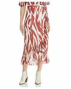 Anine Bing Lucky Zebra-Print Wrap Skirt