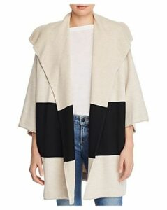 Alice + Olivia Hester Color-Block Sweater Coat