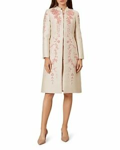 Hobbs London Melody Floral Jacquard Coat
