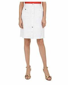 Gerard Darel Ina Button-Front Denim Skirt