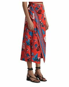 Whistles Scarf Print Wrap Skirt