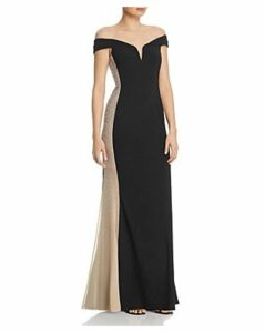 Aqua Diamante Contrast Gown - 100% Exclusive