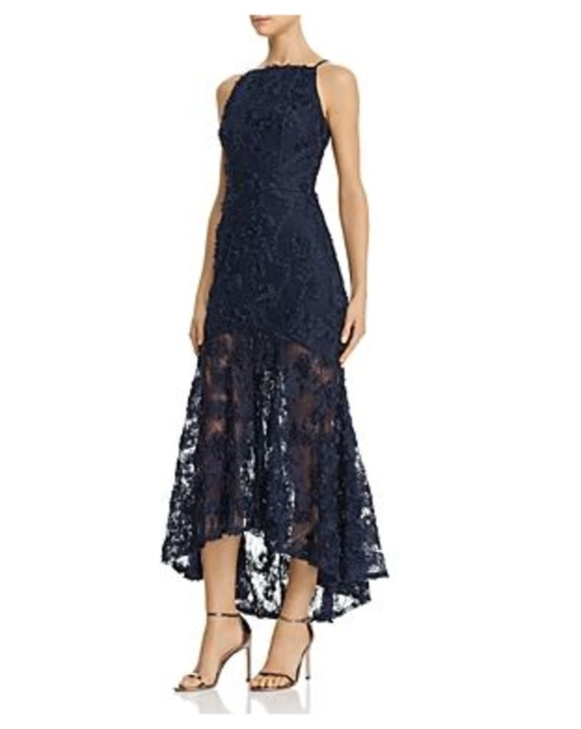 Avery G Floral-Applique Maxi Dress