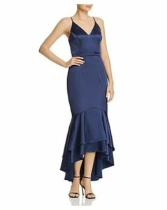 Avery G Satin Flounce Dress