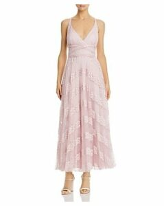 Laundry by Shelli Segal Pleated Lace Gown