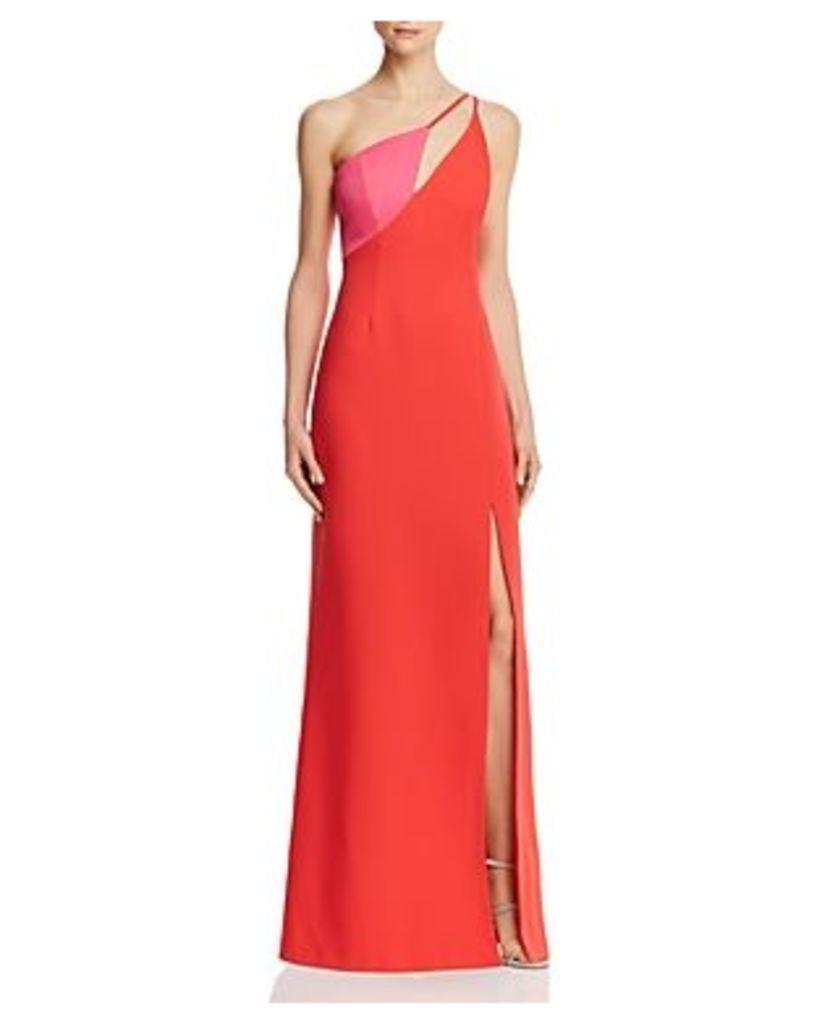 Bcbgmaxazria Cutout Color-Block Gown
