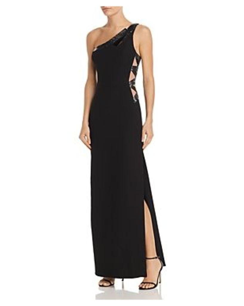 Bcbgmaxazria Sequin-Embellished One-Shoulder Gown