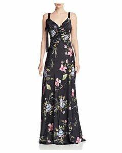 Jill Jill Stuart Floral Satin Gown