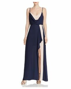 Bcbgmaxazria Draped Color-Block Gown