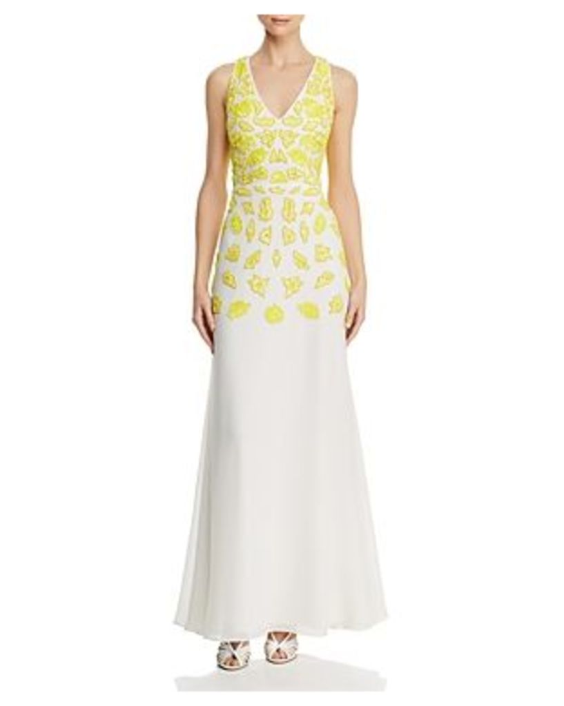 Aidan by Aidan Mattox Embellished Fluted Gown