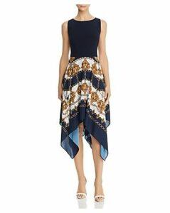 Adrianna Papell Scarf-Print Dress