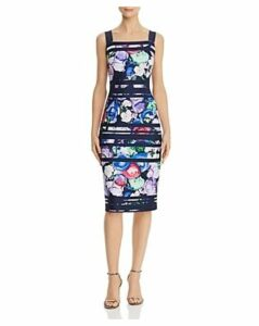 Adrianna Papell Striped Floral Sheath Dress