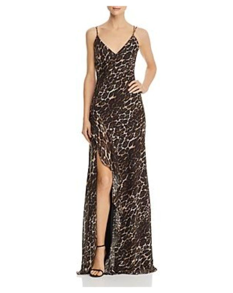 Aqua Leopard-Print Gown - 100% Exclusive