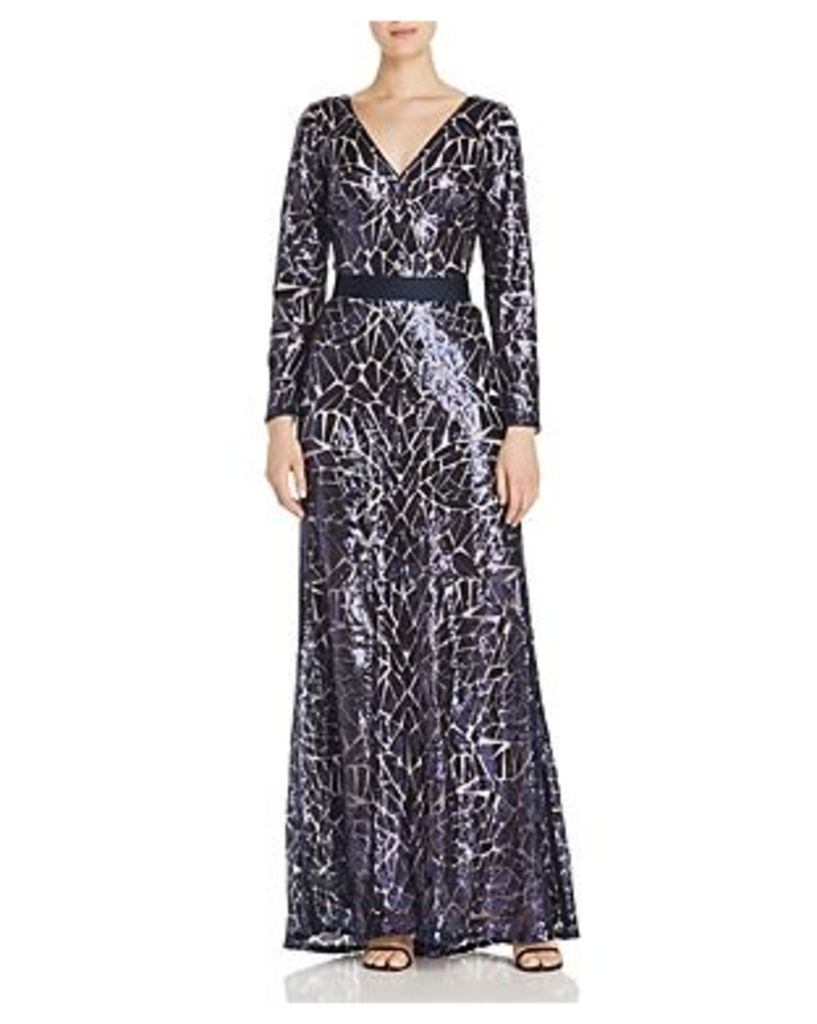 Tadashi Shoji Sequined Stained-Glass Gown