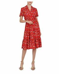Gerard Darel Garnier Tiered Floral-Print Midi Dress