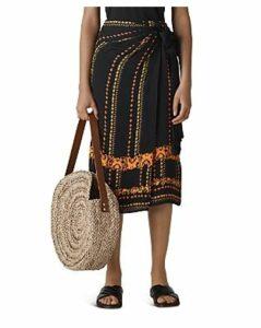 Whistles Printed Sarong-Style Skirt