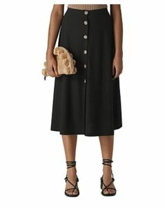 Whistles Knit Button-Front Skirt