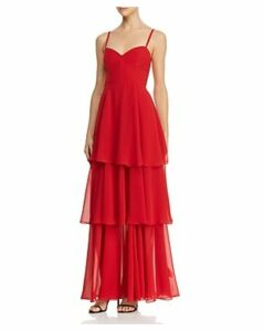 Fame and Partners Sheer Tiered Gown - 100% Exclusive
