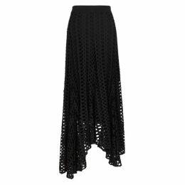 BY MALENE BIRGER Black Pointelle-knit Jersey Midi Skirt