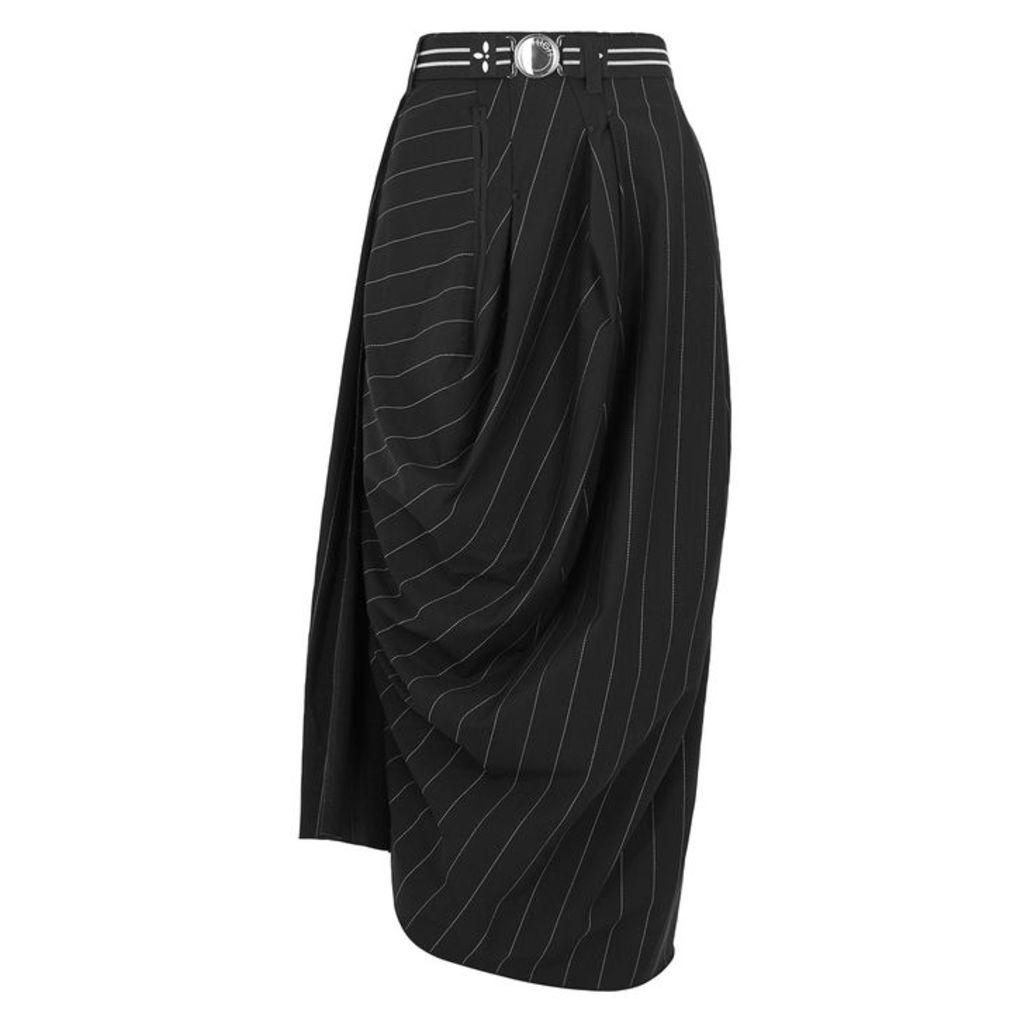 HIGH Black Stretch-neoprene Tulip Skirt