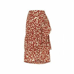 Kitri Petulia Animal Print Wrap Skirt