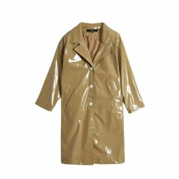 On Parle De Vous Long Coat In Waxed Polish