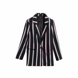 On Parle De Vous Mid-length Striped Blazer