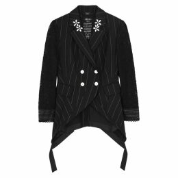 HIGH Black Neoprene Blazer