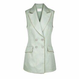 Peter Pilotto Mint Embellished Twill Waistcoat