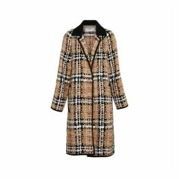 Burberry Check Basketweave Ribbon Coat
