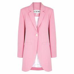 Loewe Pink Longline Twill Blazer