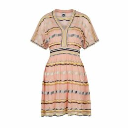 M Missoni Light Pink Stretch-knit Cotton-blend Dress