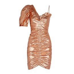 Isabel Marant Talma Rose Gold Ruched Mini Dress