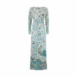 Varana Silk Tree Of Life Print Dress